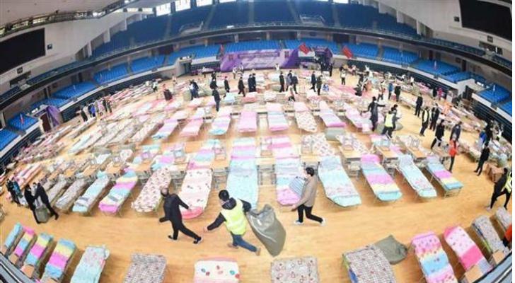 """ووهان الصينية تحول الملاعب إلى مستشفيات للمصابين بـ """"كورونا"""""""