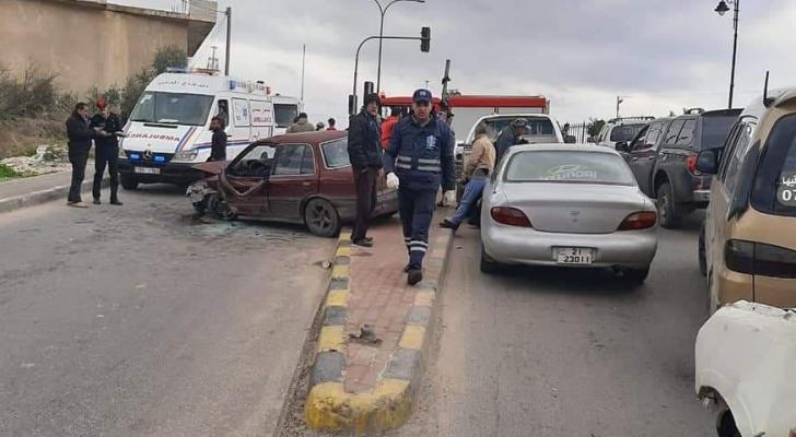جانب من منطقة وقوع الحادث