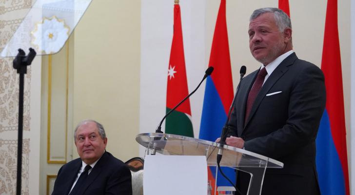 الملك يلقي خطابا أمام أكاديميين ودبلوماسيين في أرمينيا
