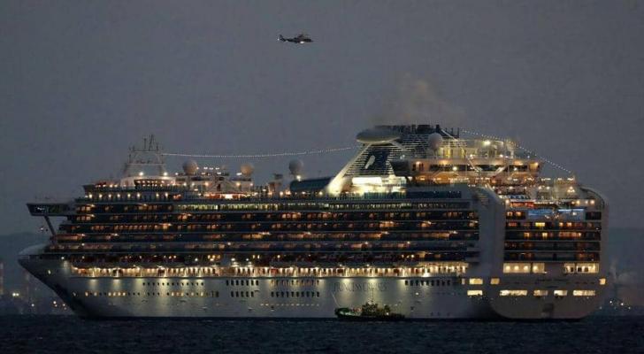 ارتفع عدد المصابين في السفينة السياحية إلى 174