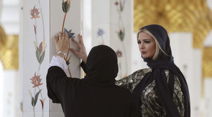 تجولت إيفانكا ترمب في مسجد الشيخ زايد في أبوظبي