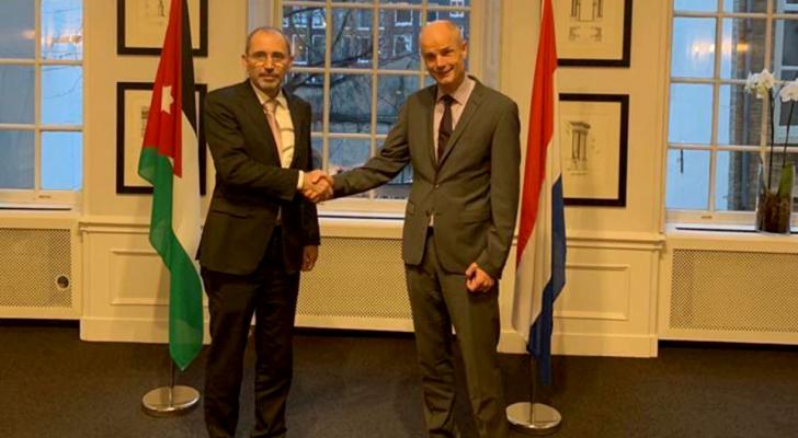من اللقاء بين وزير الخارجية نظيره الهولندي