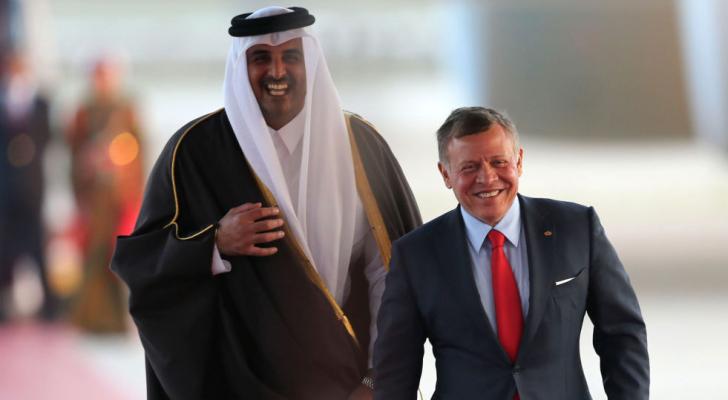 الملك عبد الله الثاني وامير قطر - ارشيفية