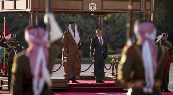 جلالة الملك وأمير دولة قطر