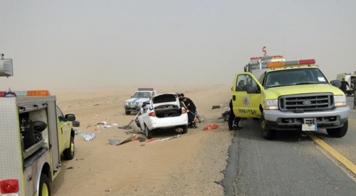 حادث سير في السعودية - ارشيفية