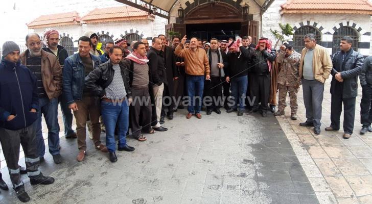 إضراب شامل في كافة أقسام بلدية الكرك الكبرى
