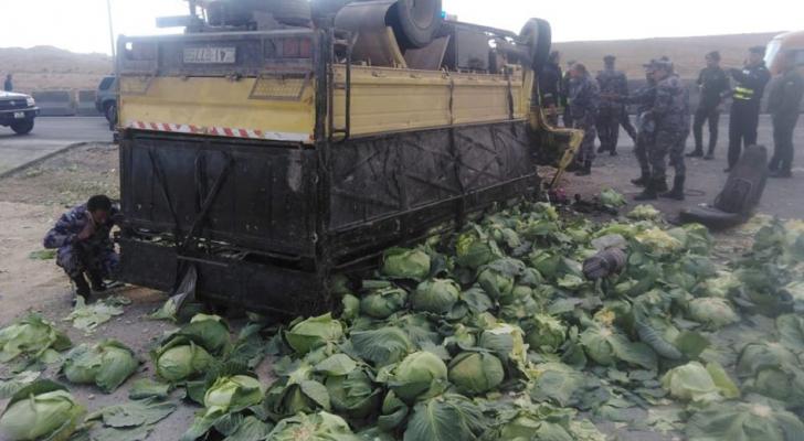"""وفاة و3 اصابات بحادث تدهور مركبة على """"الصحراوي"""""""