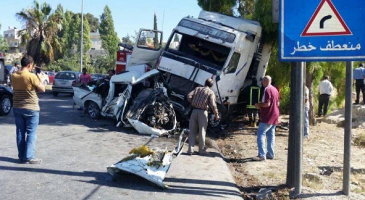 حادث سير في نزول صافوط .. الصورة أرشيفية