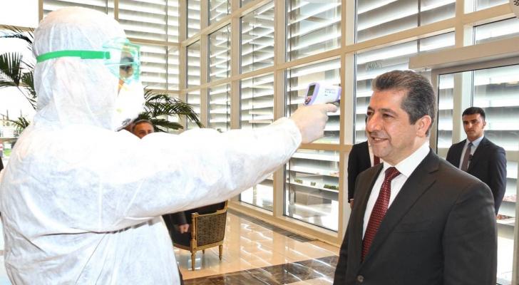 فحص رئيس حكومة إقليم كوردستان خشية إصابته بكورونا