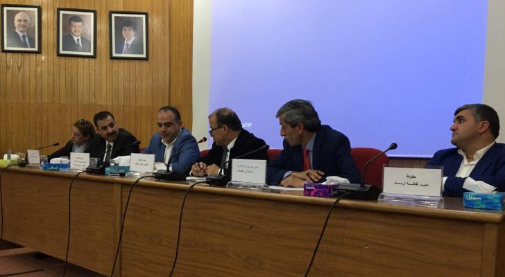 الصورة خلال اطلاق المؤتمر الدولي للتنمية الزراعية في محافظة اربد