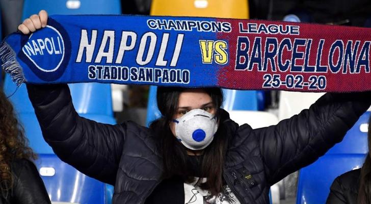 رسمياً قمّة برشلونة ونابولي بدون جمهور
