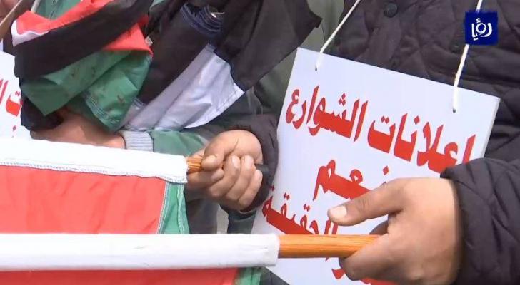 اعتصام امانة مكافحة الفساد للمطالبة بالتحقيق في عطاء شاشات عمان