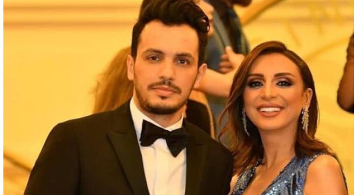 الفنانة المصرية أنغام والموزع الموسيقي أحمد إبراهيم