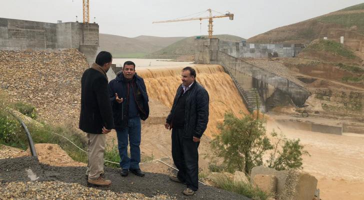امين عام وزارة المياه والري يتفقد سد الوالة