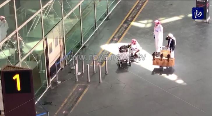 الصورة من مطار الملكة علياء