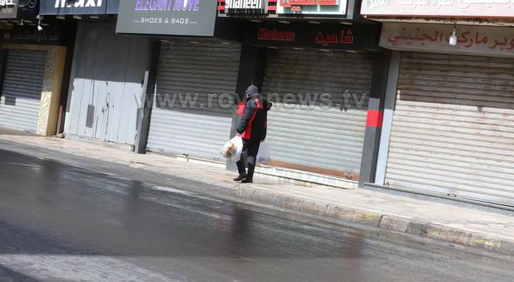 الحكومة تقرر إغلاق جميع المحلات في الأردن