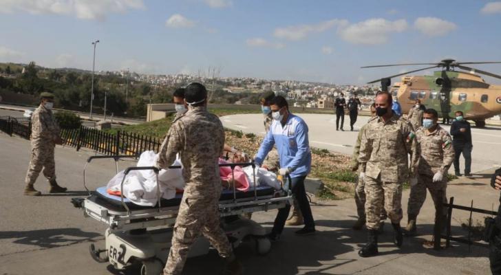 إرسال طائرة إخلاء طبي لنقل أردني تعرض لحادث سير بالسعودية