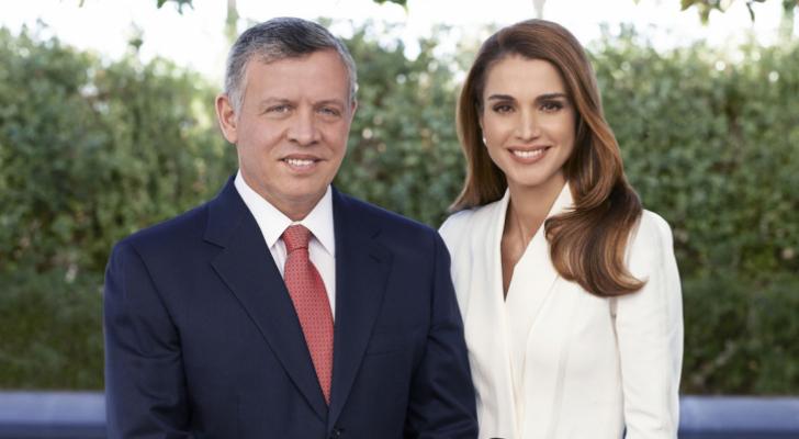 جلالة الملك عبدالله الثاني وجلالة الملكة رانيا العبدالله