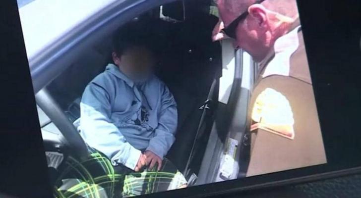 الطفل الذي أوقفته الشرطة في الخامسة من عمره