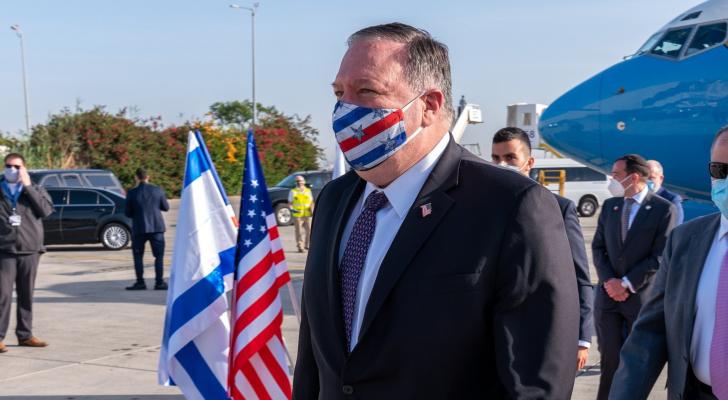 وزير الخارجية الأمريكي مايك بومبيو يصل إلى تل أبيب