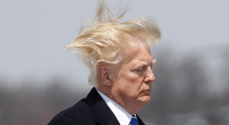 الرئيس الأمريكي، دونالد ترمب