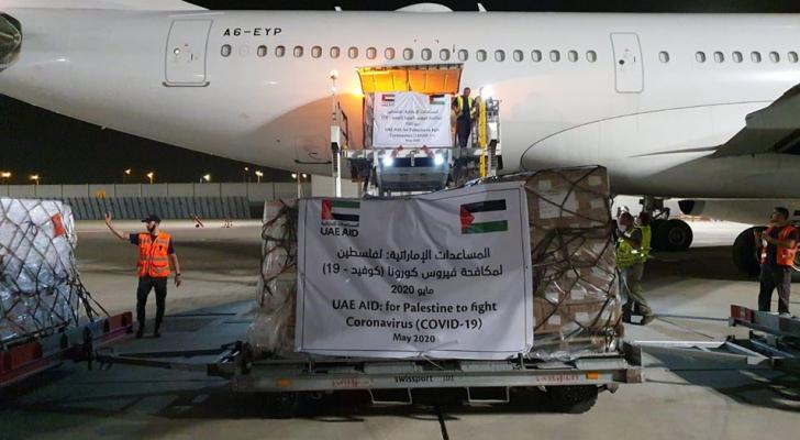 جانب من وصول الطائرة الإماراتية لكيان الاحتلال