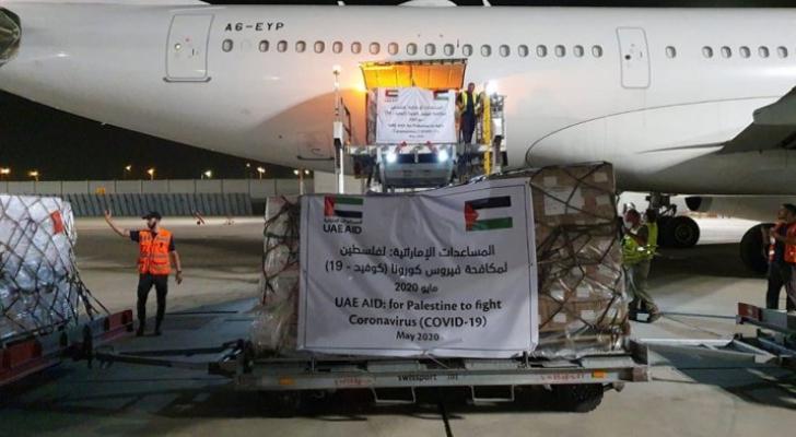 طائرة إماراتية تحط في تل أبيب لمساعدة الفلسطينيين