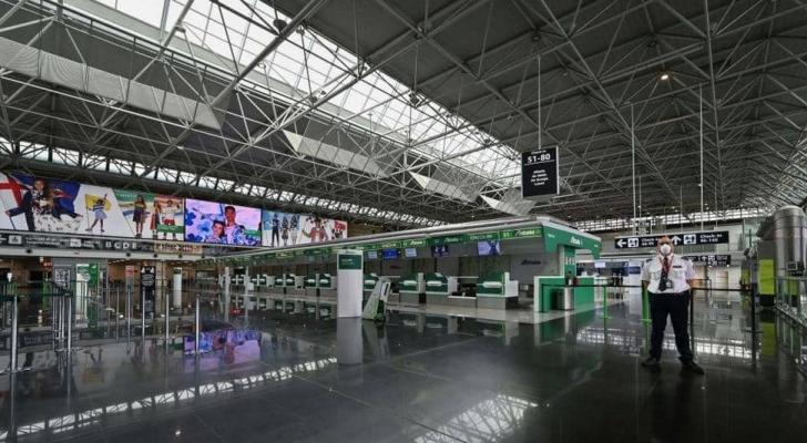 مطار روما في ظل الحجر الصحي