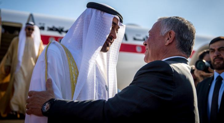 جلالة الملك عبدالله الثاني وولي عهد ابو ظبي - ارشيفية