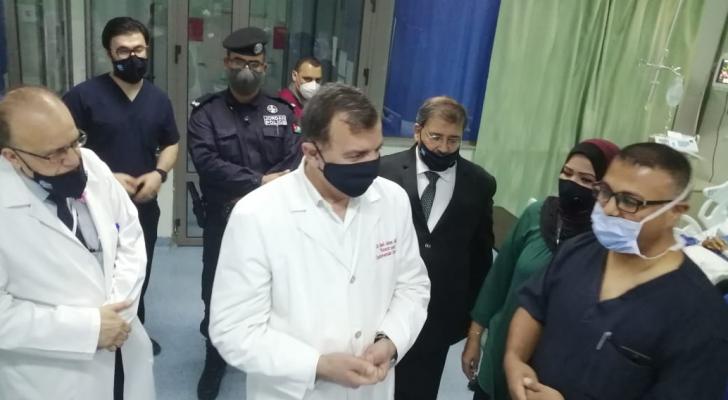 من زيارة وزير الصحة