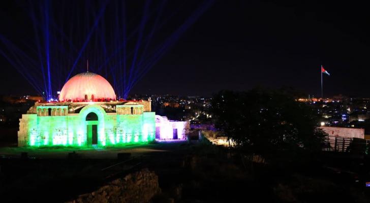 إحتفال وطني بعيد الإستقلال الرابع والسبعين للمملكة