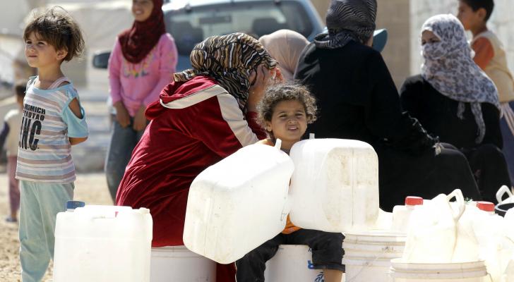 اللاجئون في الاردن - ا ف ب