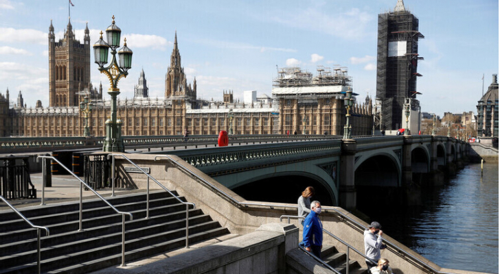 لندن في زمن جائحة فيروس كورونا المستجد.