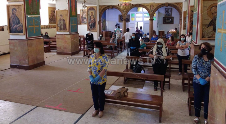 الكنائس في الأردن تفتح أبوابها أمام المصلين وسط إجراءات وقائية مشددة