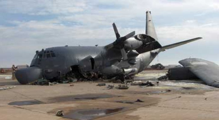 البنتاغون يعلن تحطم طائرة للتحالف في قاعدة جوية شمال بغداد