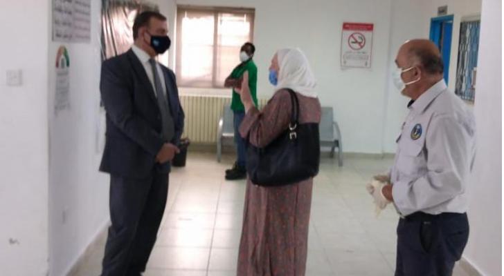وزير الصحة يتفقد مركز صحي مرج الحمام الشامل