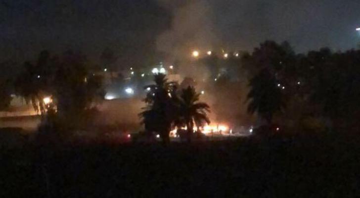 سقوط صاروخ في محيط السفارة الأمريكية ببغداد