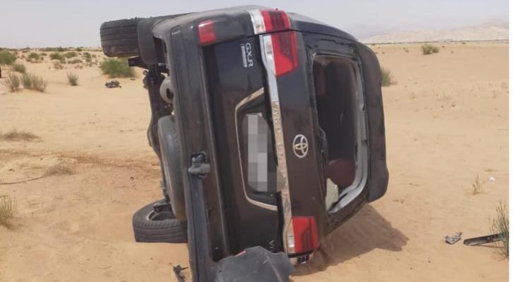 9 إصابات في حادث تصادم في عمان