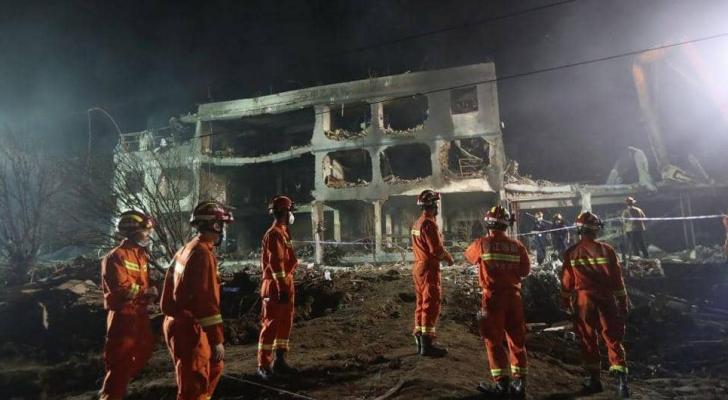 الانفجار أدى إلى تدمير منازل ومصانع