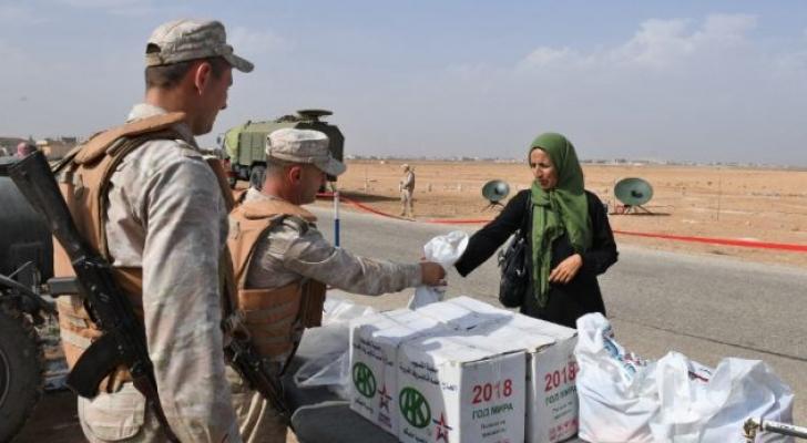 نقل المساعدات الانسانية