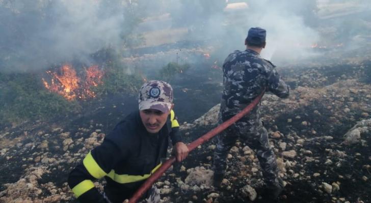 خلال اطفاء الحريق