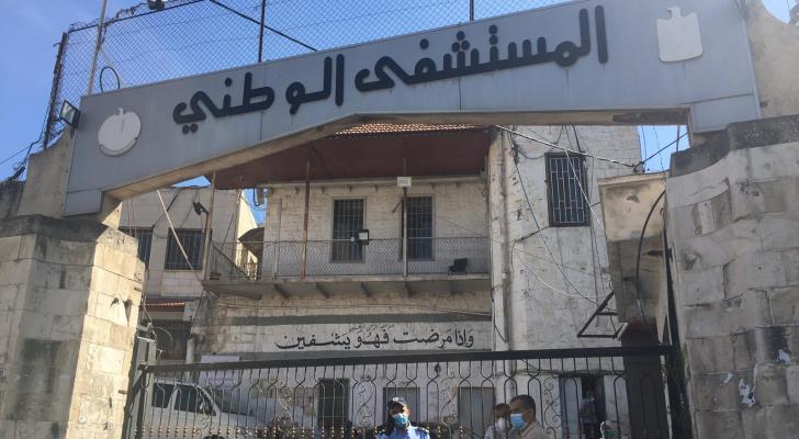 إصابة كورونا تغلق المستشفى الوطني في مدينة نابلس