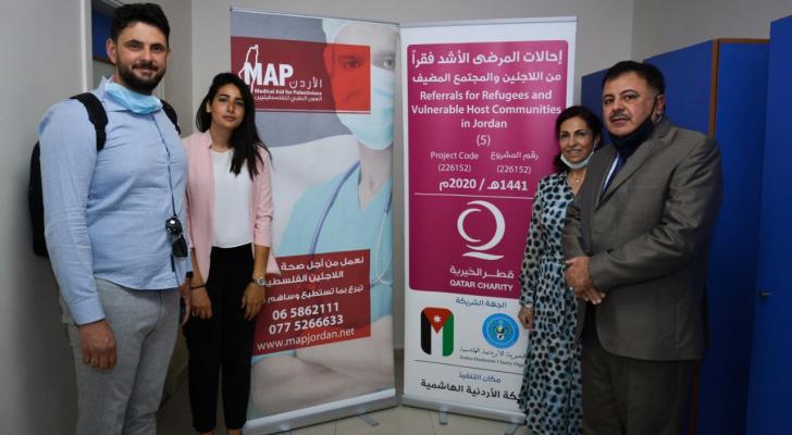 الجمعية الأردنية للعون الطبي للفلسطينيين MAPوقطر الخيرية تنفذان مشروع عمليات للاطفال في اليوم العالمي للاجئ