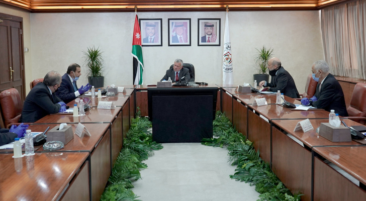 """الملك  أشاد بإجراءات البنك المركزي للتخفيف من تبعات """"كورونا"""" على الاقتصاد"""