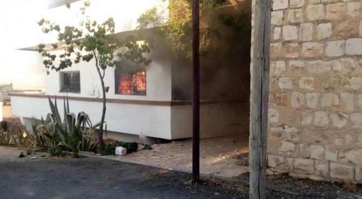 حرق منزل القاتل في المفرق