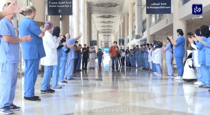 أخر مصاب بكورونا في المستشفى الميداني في دبي