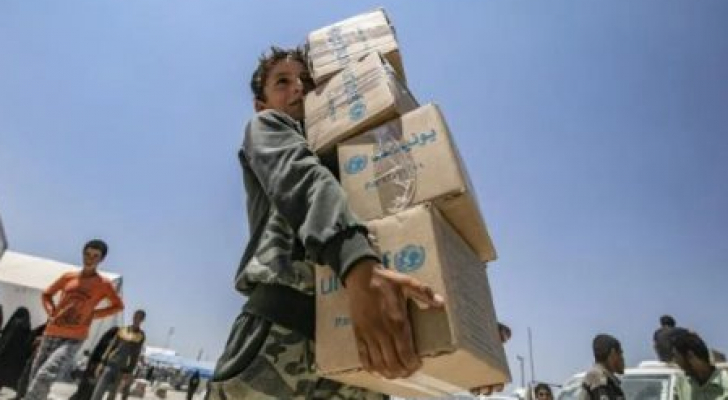 المساعدات لسوريا