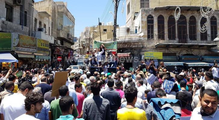 وقفة في وسط عمان رفضا لخطة ضم أراضي فلسطينية لسيادة الاحتلال