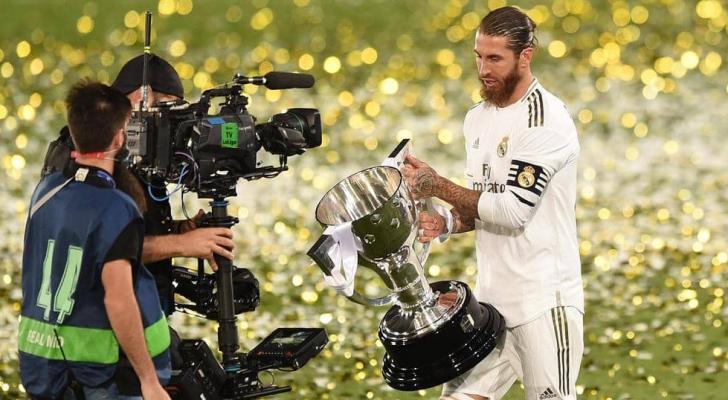 ريال مدريد توج بلقب الدوري للمرة 34 في تاريخه