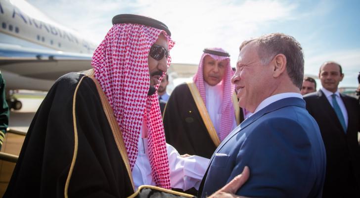 الملك عبدالله الثاني وخادم الحرمين - ارشيفية
